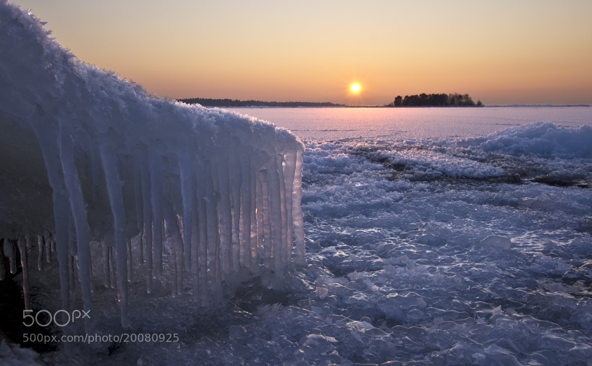 Photograph Icicles At Sunset by Sten Wiklund on 500px