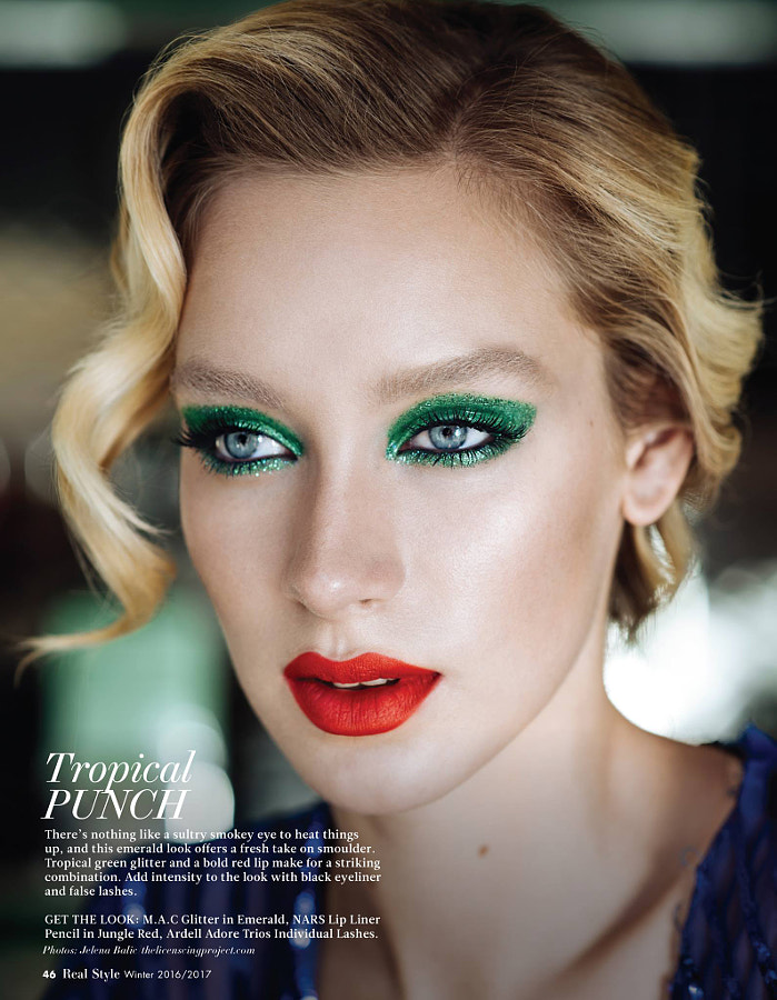 Real Style Magazine beauty editorial Dec 2016