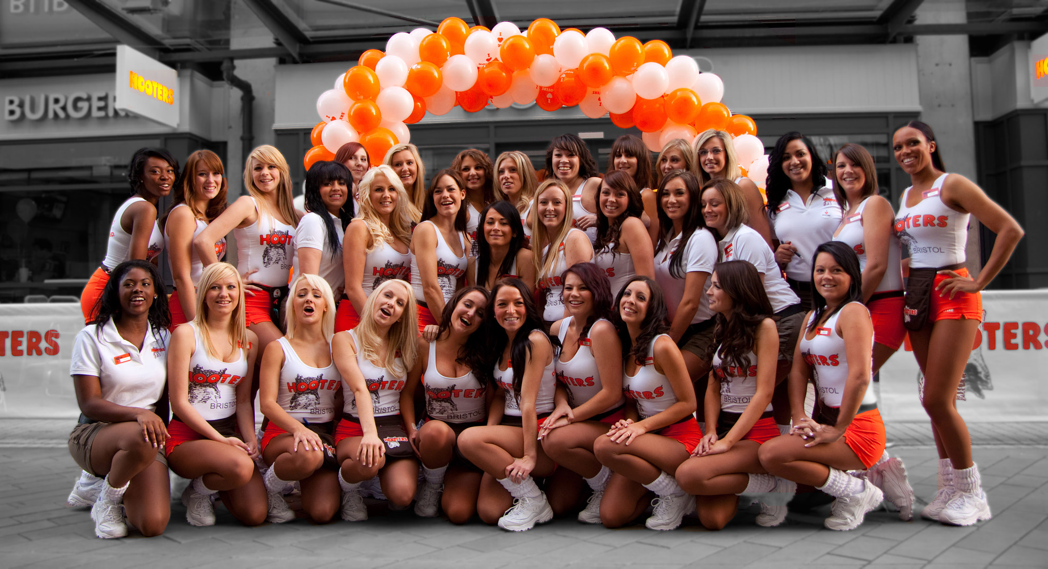 Photograph Hooters Bristol opening  by Pete Griffiths on 500px