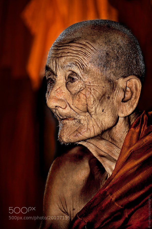 Photograph Old monk in Burma by Carlos Cass on 500px