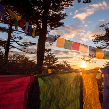 Prayer Flags in Himalayan, Canon EOS 500D