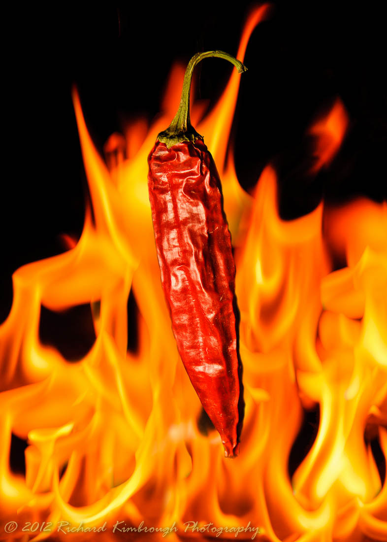 Photograph Pepper Dropping into the Flames by Richard Kimbrough on 500px
