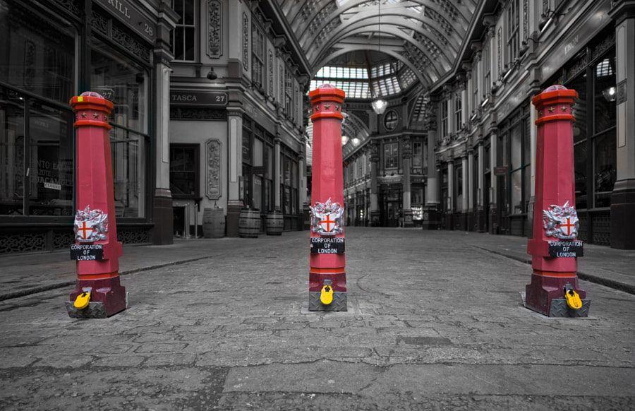 Leadenhall Bollards - Selective Colour
