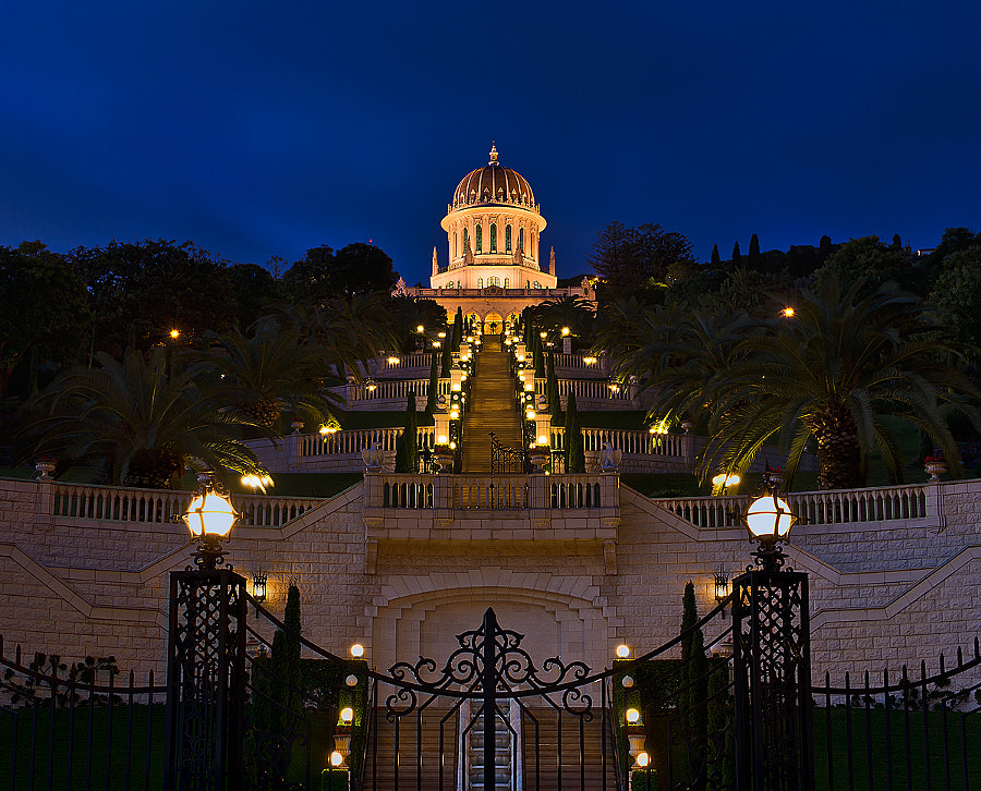 Photograph Bahai Temple - Night View by Natasha Pnini on 500px
