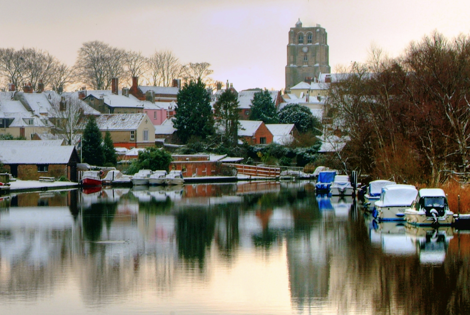 Photograph Snowy Beccles by Mike Baker on 500px
