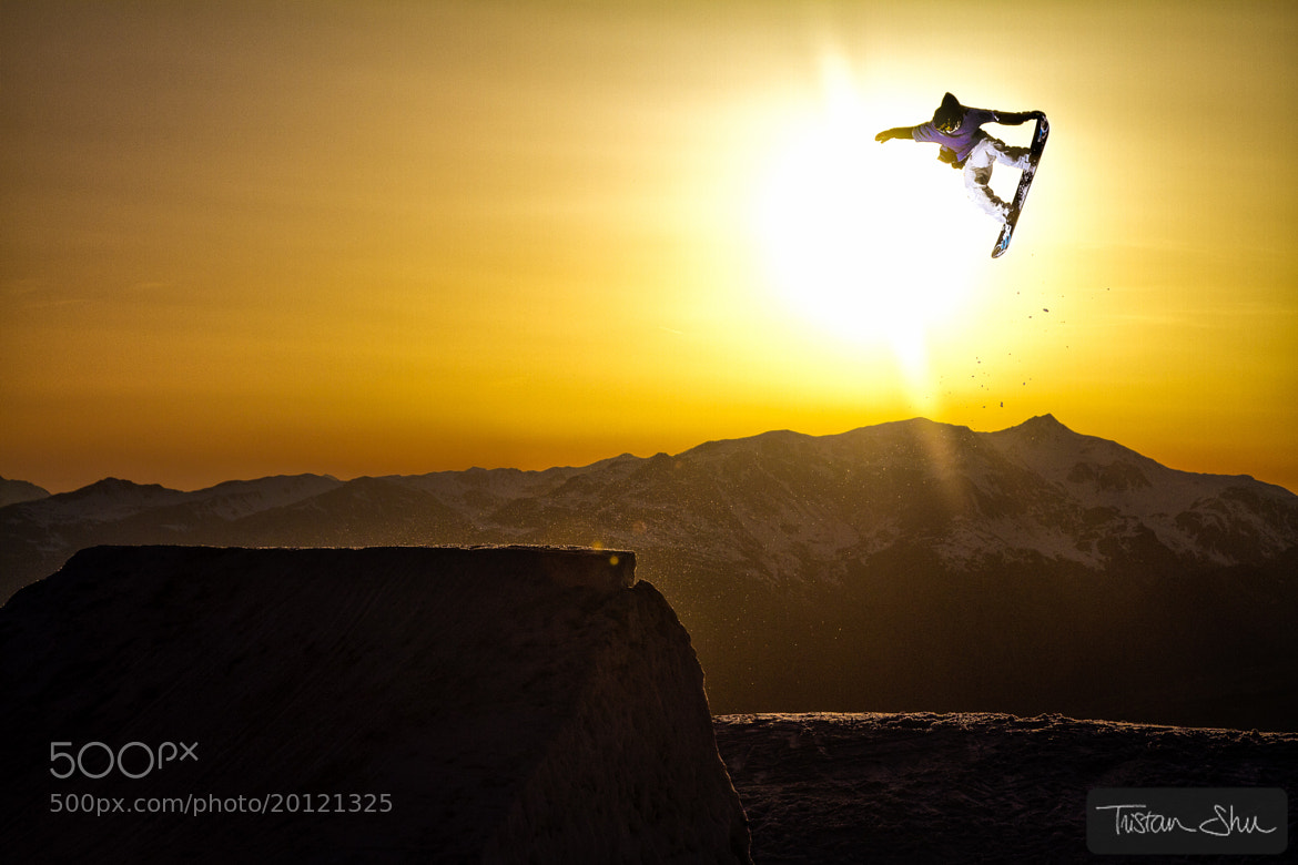 Photograph Tail Grab at Sunset by Tristan Shu on 500px