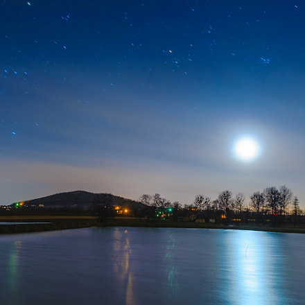Night at pond, Nikon D700, Sigma 24mm F1.8 EX DG Aspherical Macro