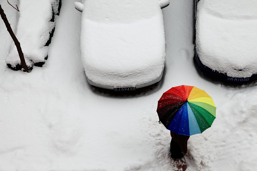Photograph Snow and Rainbow by David Dai on 500px