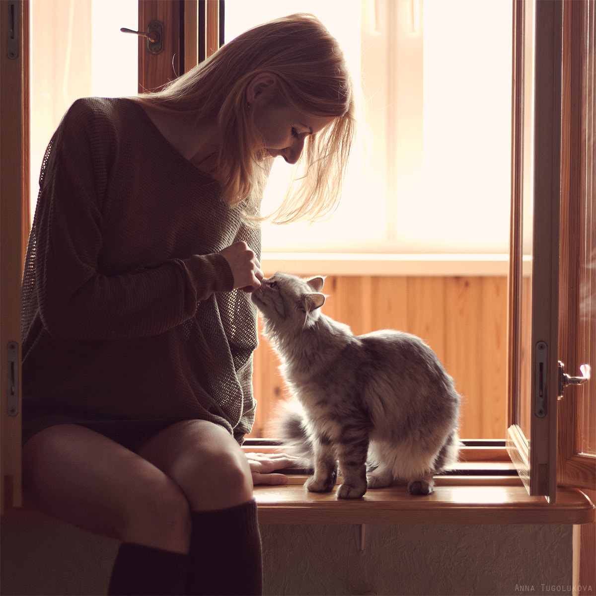 Photograph She and cat by Anna Tugolukova on 500px