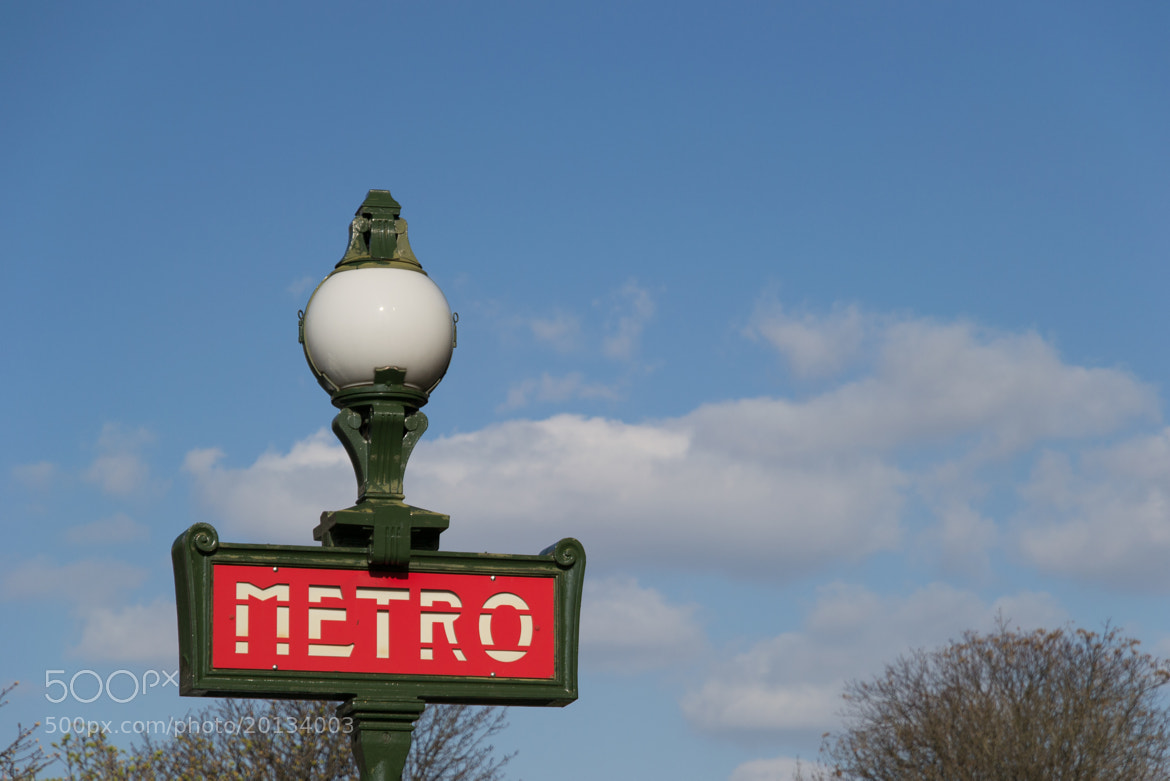 Photograph Metro station sign in Paris by Leandro Di Tommaso on 500px