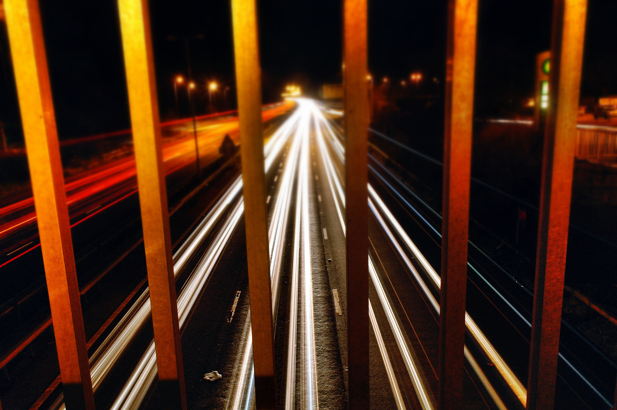 Photograph The M1 at night by Adam Lay on 500px