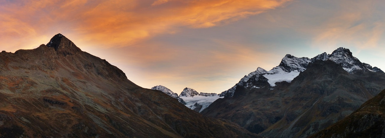 Photograph Silvretta evening panorama by Johannes Ha on 500px