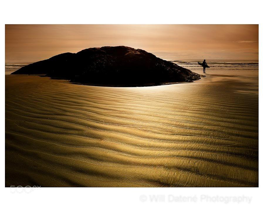 Photograph sand and surf by Will Datené on 500px