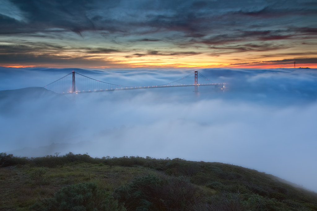 Photograph Fog & Light - The Golden Gate Bridge, San Francisco,CA by Javier Acosta on 500px