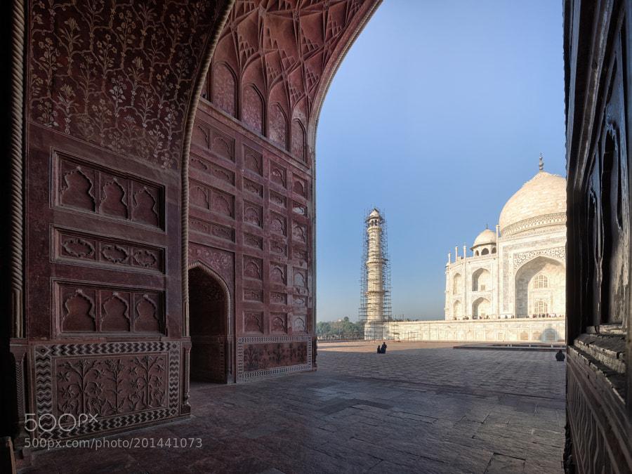 A side view to Taj Mahal