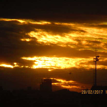 Winter sunset, Canon IXUS 155