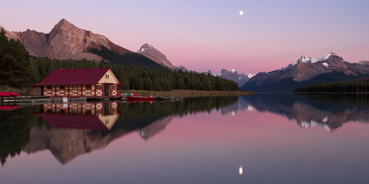 Photograph Maligne Lake Twilight by Steven Davis on 500px