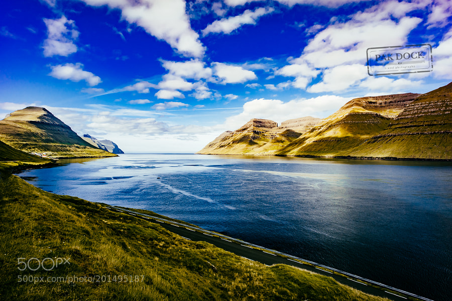 The fjord of Kunoy from Sydradalur - Faroe Islands