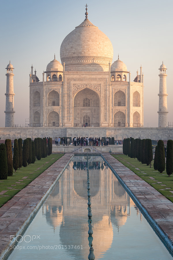 Taj Mahal in morning light
