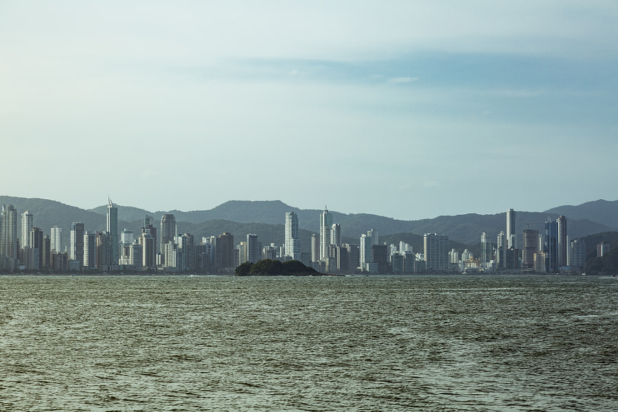 The island and the city.