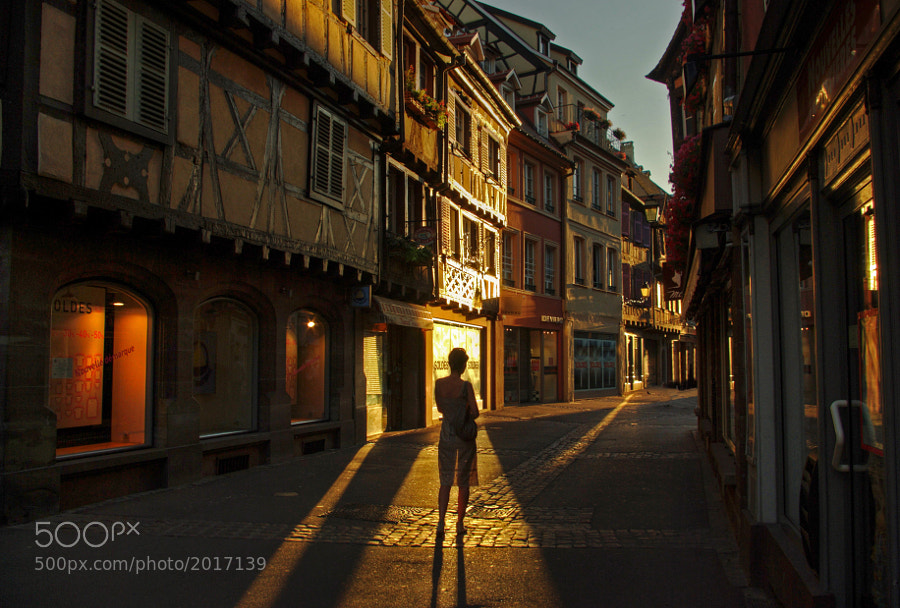 Evening walk with my beautiful wife in Colmar, France