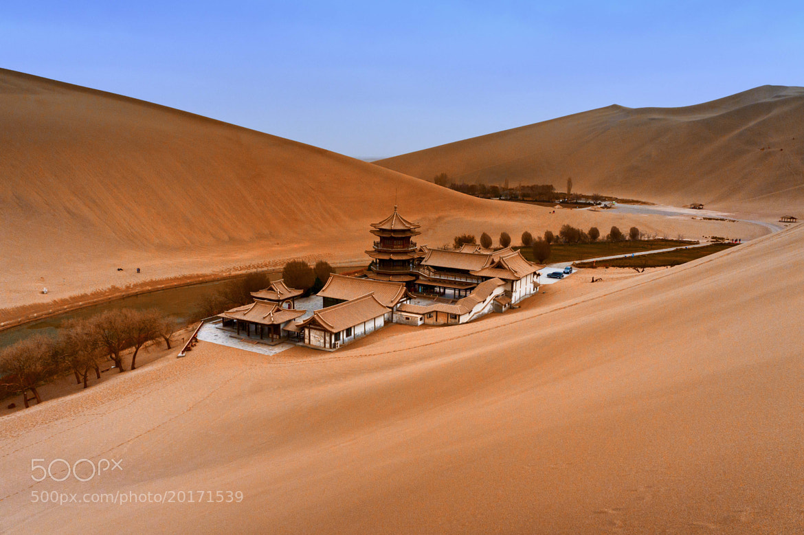 Photograph Crescent Lake (Gansu, China) by Luca Febbraio on 500px