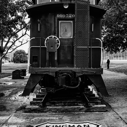 Old train in Kingman, Canon EOS REBEL T6I, Tamron AF 19-35mm f/3.5-4.5