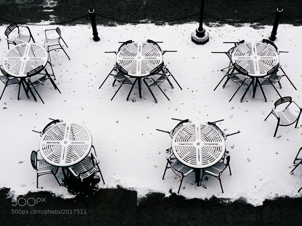 Photograph snowy patio by Sarah G. on 500px