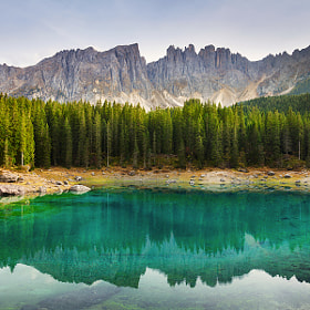 Evening at Lago di Carezza by Daniel Řeřicha (Rericha)) on 500px.com