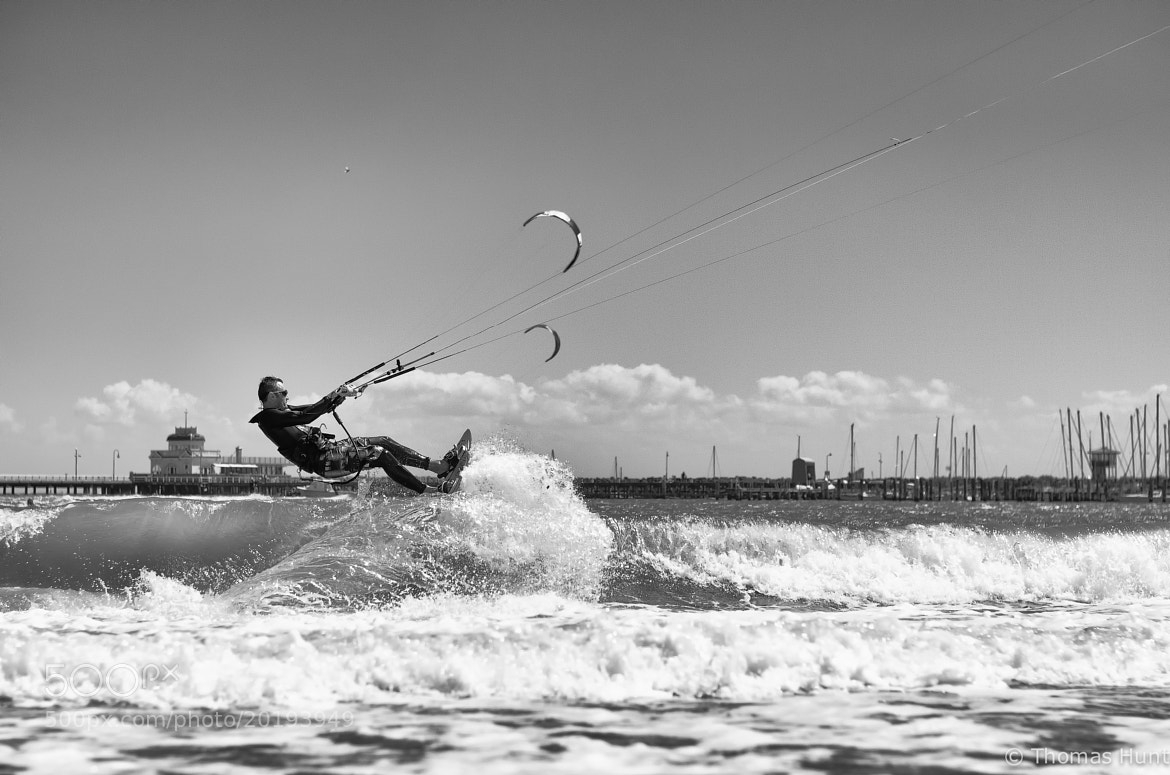 Photograph Kite wave B&W by Thomas J Hunt on 500px