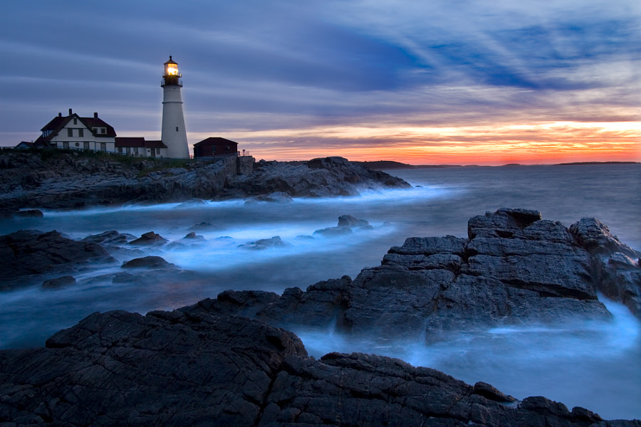 Taken at Portland Headlight, Cape Elizabeth, Maine.  15 Second exposure.