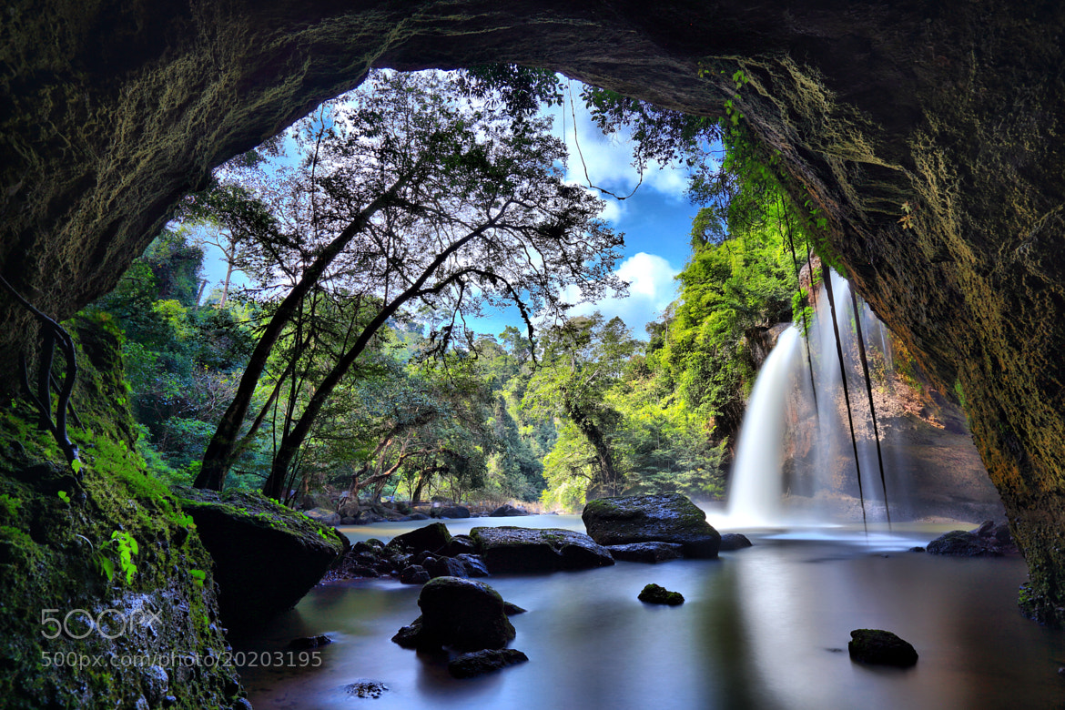 Photograph Haew Suwat Waterfall by Suppalak Klabdee on 500px