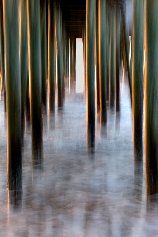 Old Orchard Beach Pier pilings.