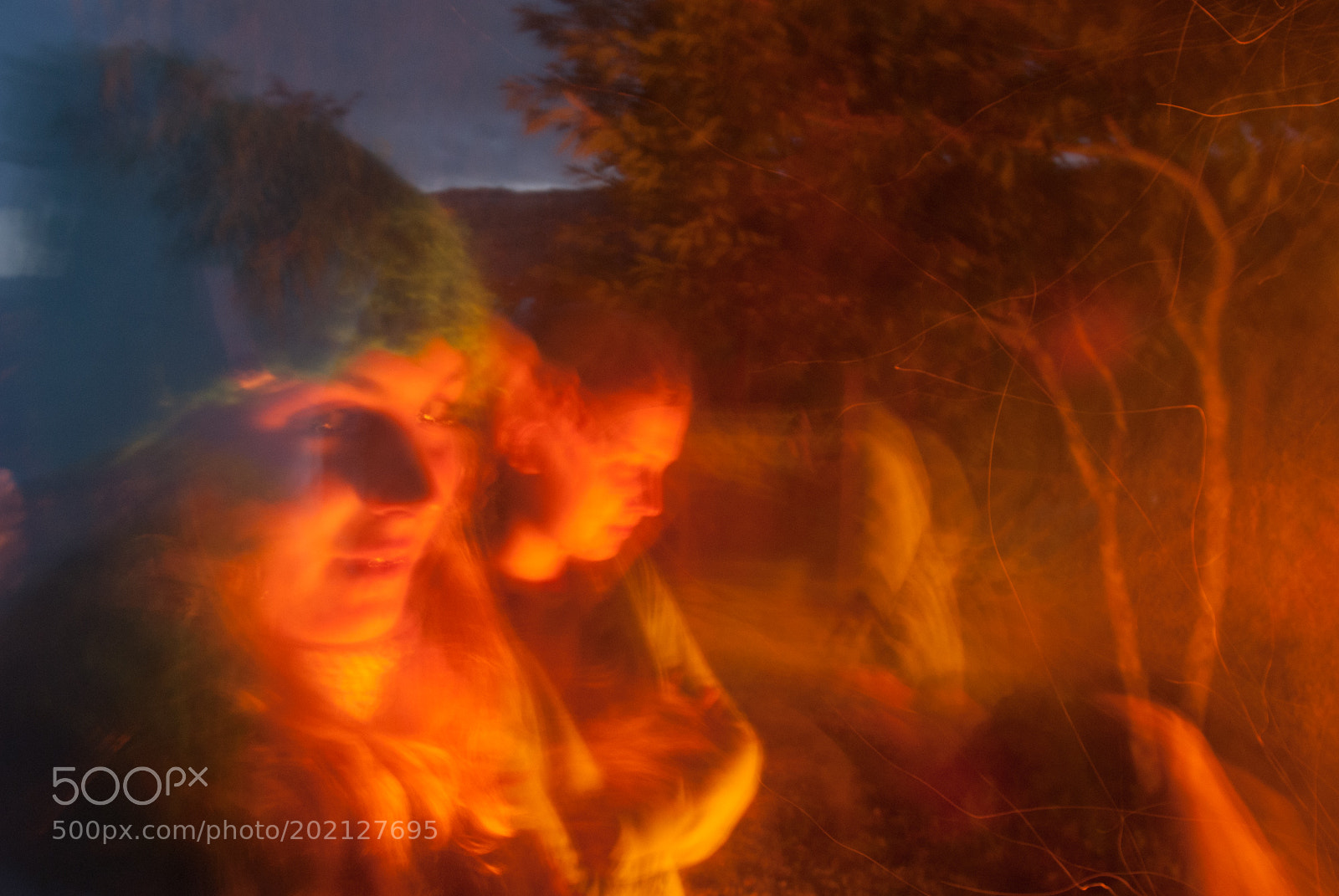 By the campfire photography