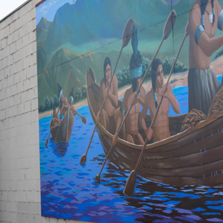 Native American Mural on, Canon EOS REBEL T3I, Sigma 28-80mm f/3.5-5.6 II Macro