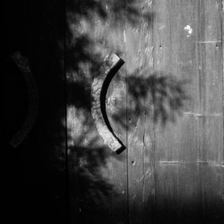 Shadow on Old Door, Canon EOS REBEL T3I, Sigma 28-80mm f/3.5-5.6 II Macro