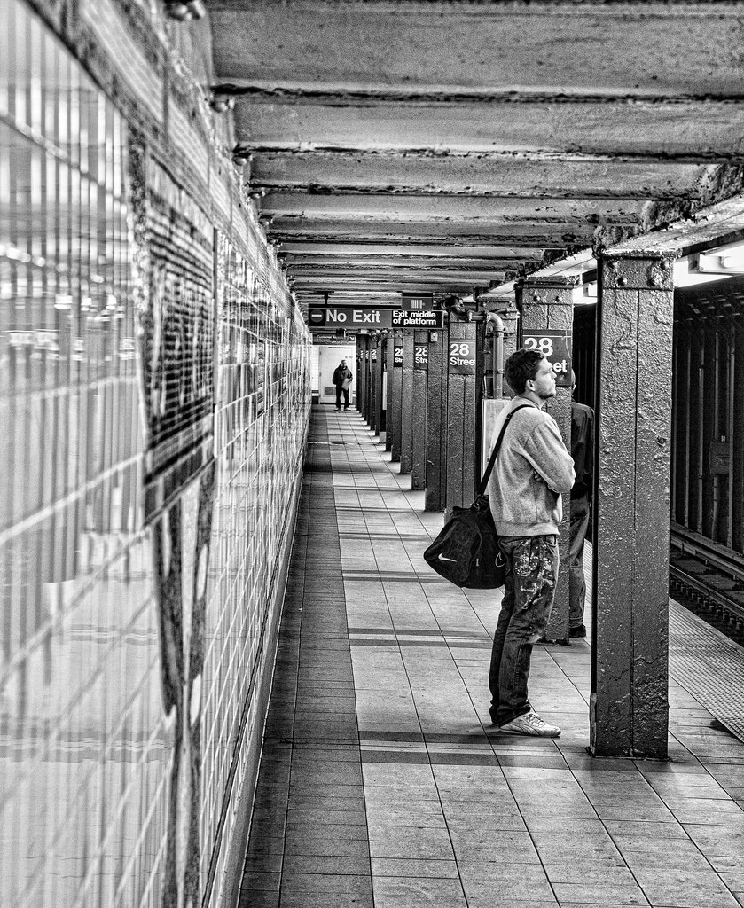 Photograph Waiting for the Subway Train by Scott Nelson on 500px