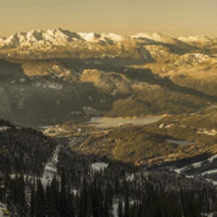 whistler winter sunset panorama
