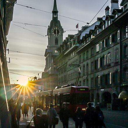 Bern downtown at sunset, Sony ILCE-6300, Sony FE 28mm F2