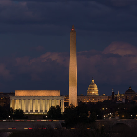 National Mall at Dusk, Canon EOS 5D MARK IV, Canon EF 200-400mm f/4L IS USM