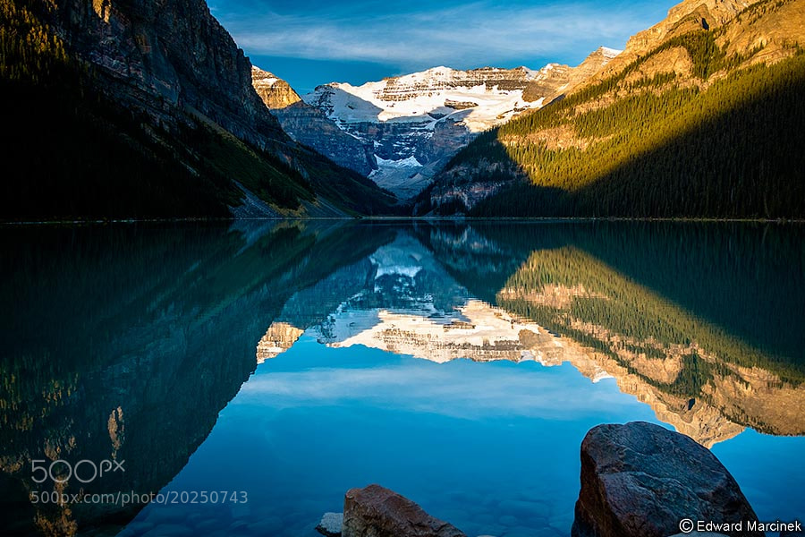 Photograph Early Morning at Lake Louise by Edward Marcinek on 500px