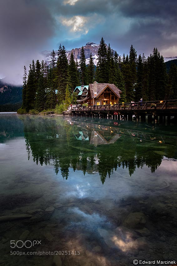 Photograph Reflections at Emerald Lake by Edward Marcinek on 500px