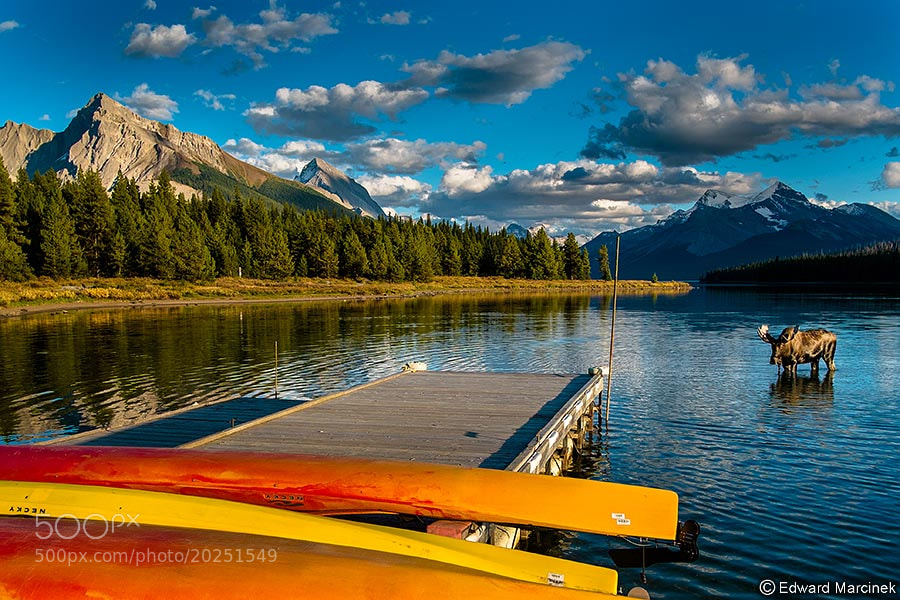 Photograph One moment at Maligne Lake by Edward Marcinek on 500px