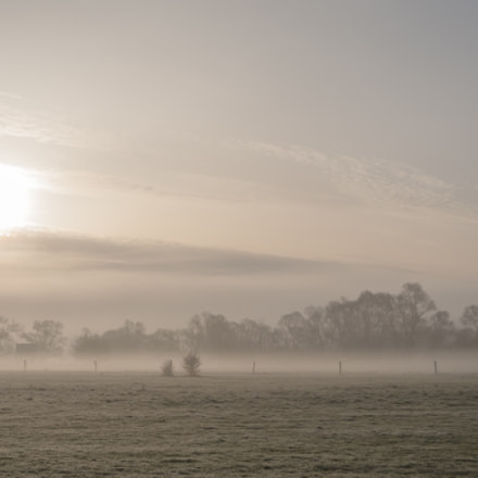 The morning mist at, Nikon D300S, Sigma 28-105mm F2.8-4 Aspherical