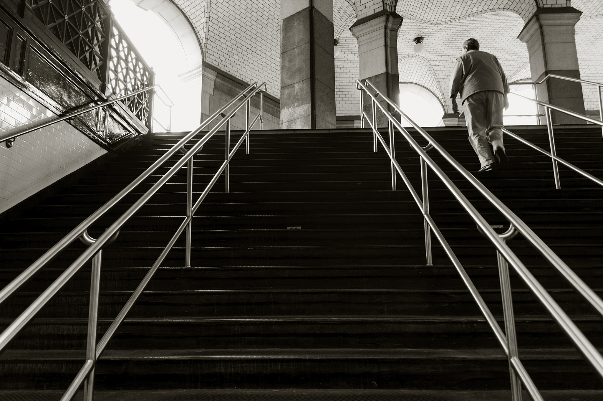 Photograph Subway Stairs by Kent Atwell on 500px