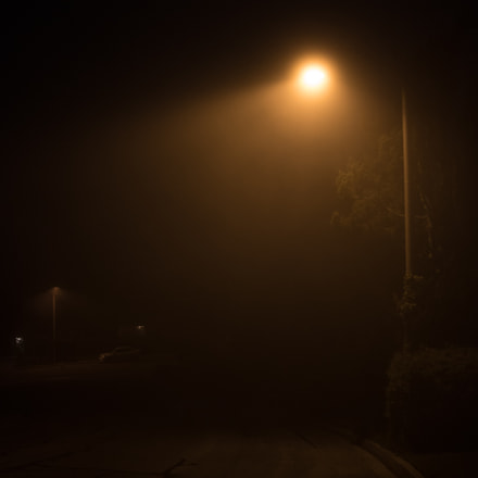 The fog at midnight , Canon EOS REBEL T6I, Tamron AF 19-35mm f/3.5-4.5