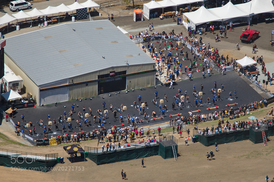 An aerial view of the 2009 CrossFit Games Affiliate Team competition