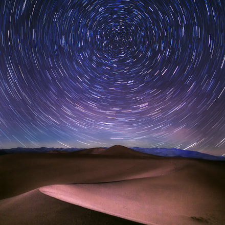 Startrail dune, Canon EOS 5D MARK II, Sigma 20mm f/1.4 DG HSM | A