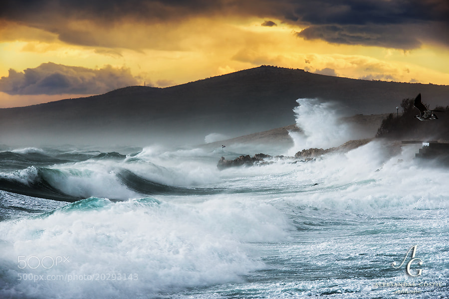 Poetry of hurricane force Bura in the Velebit Channel, where this untamable artist was exceeding 200km/h yesterday