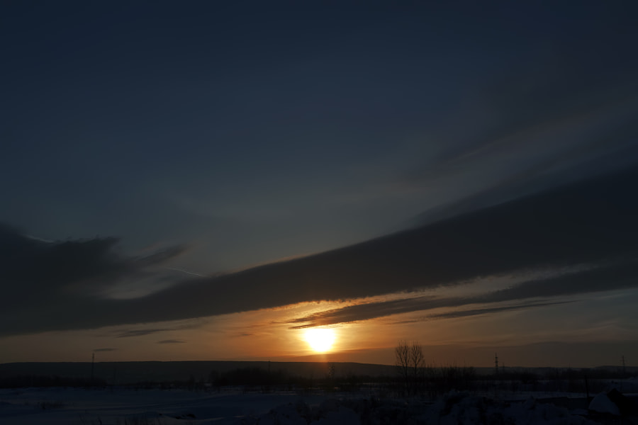 sunrise and clouds over Sukhovo